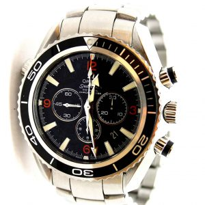 Omega Seamaster Planet Ocean chronograph watch