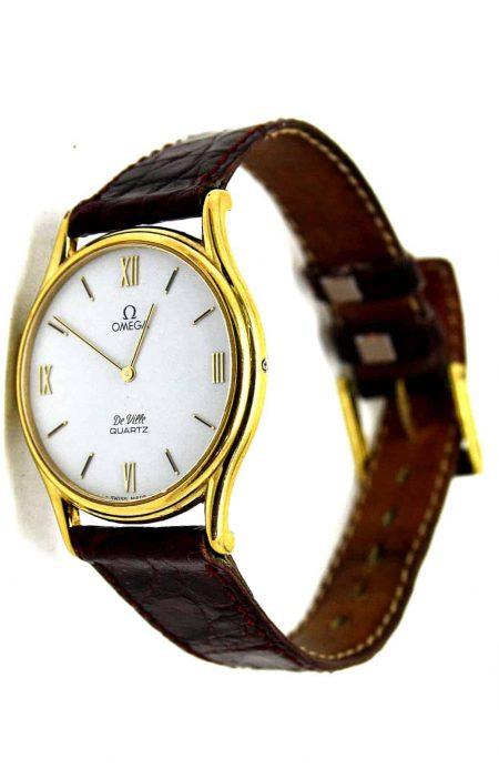 Vintage Omega DeVille slimline quartz watch