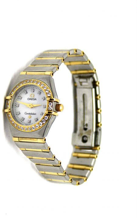 Omega Constellation diamond watch