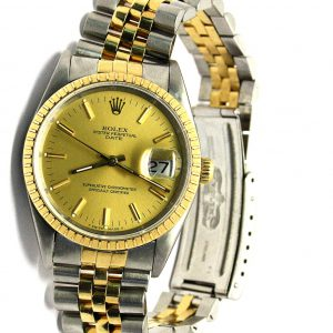 Rolex Date gold-steel watch