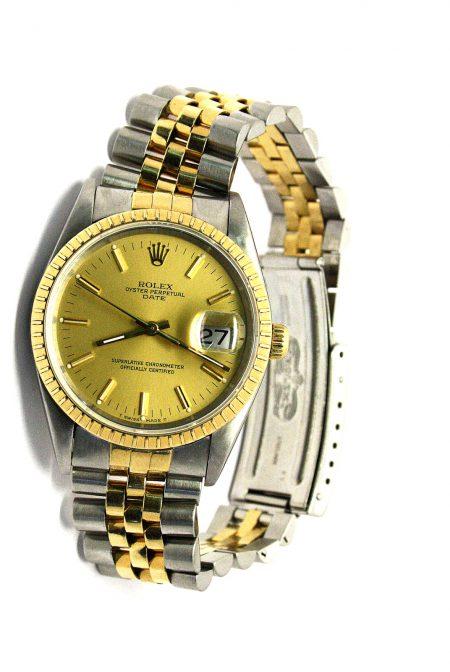 Rolex Date gold-steel watch