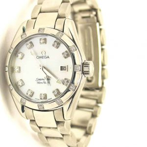 Omega Aqua Terra diamond watch