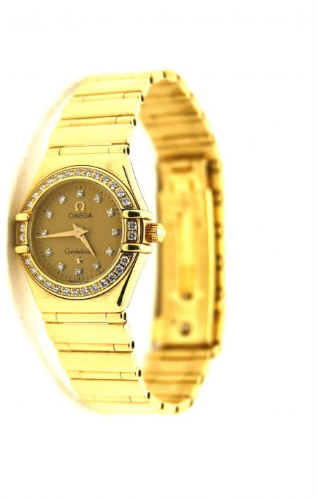 Omega Constellation 18ct gold diamond watch