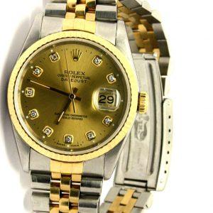 Rolex Datejust gold-steel watch